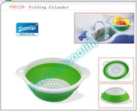 Free shipping!!!Wholesale hottest product+5pcs/lot+MTPR+PP+Plastic Folding Colander,food container&kitchenware