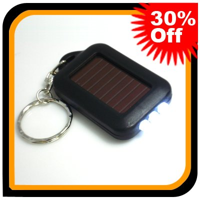 3 x mini Portable 3 LED Solar Flashlight Torch Keychain Rechargeable & Free Shipping 102053(China (Mainland))