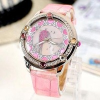 Luscious girls romantic artistic Watch, 5 colors, Swarovsky rhinestone inlayed +free shipping