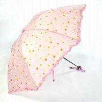 Wholesale - NEW Arrival Flower Umbrellas FASHION WINE triple folding umbrellas