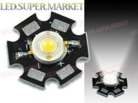 200pcs  Cold White 3W LED Lamp Prolight Star 110Lm High Power LED
