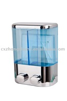 Wholesale + Free freight charge:high quality Cheap price hand held Soap dispenser in High plastic TSD19C Capaciky:2*400ml Chrome