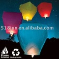 Ecology sky lantern 100% Degradable 10 Color Free Shipping