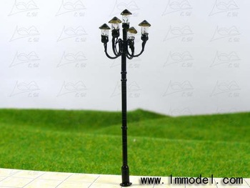 mdoel lamp, T52 lamppost for train layout HO scale. model building lamp, scale lamp, lamp