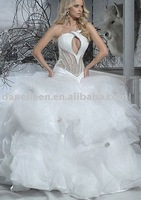 Freeshipping!  WR1704 Bling Custom Made See Through Corset Bridal Wedding Ball Gowns