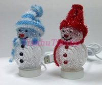 USB Misic Snowman with color changing light/ Christmas decoration,promotional gift free drop ship