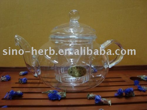 Double-walled Glass Teapot+Glass Tea Cup+One Piece of Blooming Tea+Free Shipping(China (Mainland))