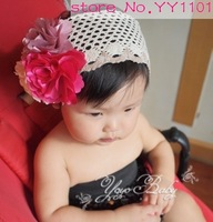 free shipping,wholesale and retail,fashion handmade baby hairband,baby flower headband