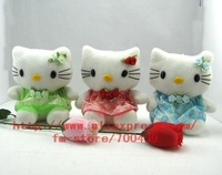 Wholesale - Hot sale! lots 24pcs hello kitty Children's lovely doll soft Toy Plush Toys A8 +Free Shipping