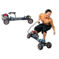 Gas powered skateboard motor scooter 49cc motorized 2 stroke engine wheel man