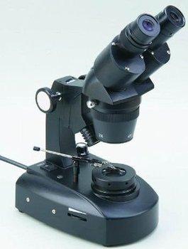 Dual Magnification 20X/40X Binocular Gemscope Gem Microscope JW-7C