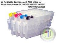 JETYOUNG Refillable Cartridge For Ricoh Gelsprinter GX7000 GX5000 GX3000SF GX3000S GX2500 w/ Auto-reset Chip, 4pcs/set