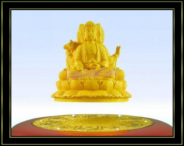 Maglev rotação : Artesanato oriental três saints.Buddhism , metal artesanato, ouro puro e galvanoplastia , pureza do ouro para 999%(China (Mainland))