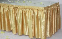 FREE SHIPPING SATIN Table Skirt