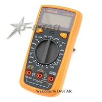 Free Shipping LD3801A Plam Size Digital LCD Multimeter Yellow color