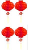 free shipping 100pc/lot NEW Folding plastic paper lanterns,Red Lanterns