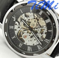 Наручные часы 2010 Blue Glass Dial Men Sport CHRO Automatic Black Watchship