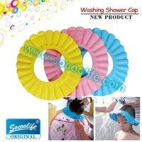 Free shipping! Children's hair washing shower cap, baby shower caps