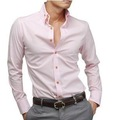 Free shipping cultivating long-sleeved shirt / sportsman preferred waist, pink,M, L, XL, XXL, XXXL Code