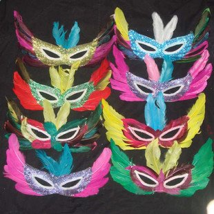 Feather mask dance activities Small Bar props mask wf3012(China (Mainland))
