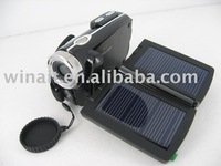 Free shipping+Double Solar charger Digital camera 1Pcs/lot