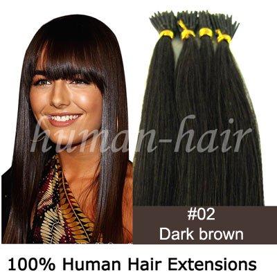 """20 """"queratina cola na ponta vara da extensão do cabelo 0,5 g # 2 da cor escura marrom 100strands(China (Mainland))"""