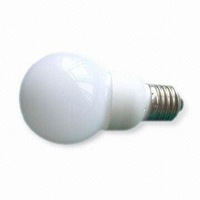 G60 LED Ball Bulb;AC120V/220V input;0.5-1W;E27 base;60*113mm;18pcs led;PVC milky housing;warm white color