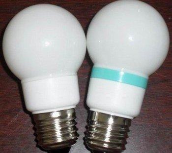 G50 LED Ball Bulb;AC120V/220V input;0.5-1W;E27 base;50*102mm;15pcs led;PVC milky housing,please advise the color