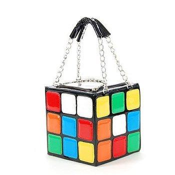 Love Colourful Magic Cube Handbag Bag Gift Wholesales&Retail Free Shipping