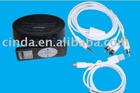 free shipping&10pcs/lot With Remote Universal Dock av cable for iPhone 3G iPod