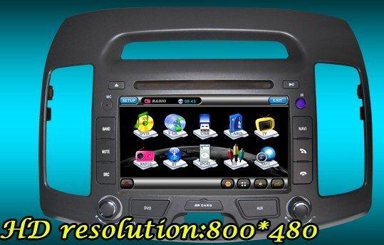 Hyundai Elantra car dvd player com gps de navegação sistema de rádio(China (Mainland))
