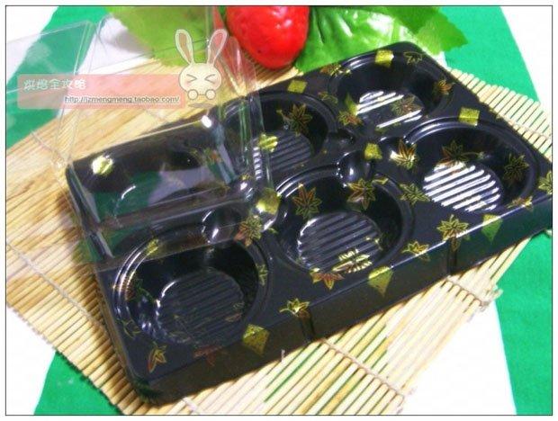 Seis divisões caixa de sobremesa caixa de lanche sobremesa bandeja(China (Mainland))