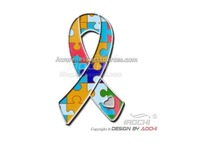 Free Shipping Newest Best Selling Hot Selling High Quality Autism Awareness Heart Jigsaw Puzzle Ribbon Lapel Pin