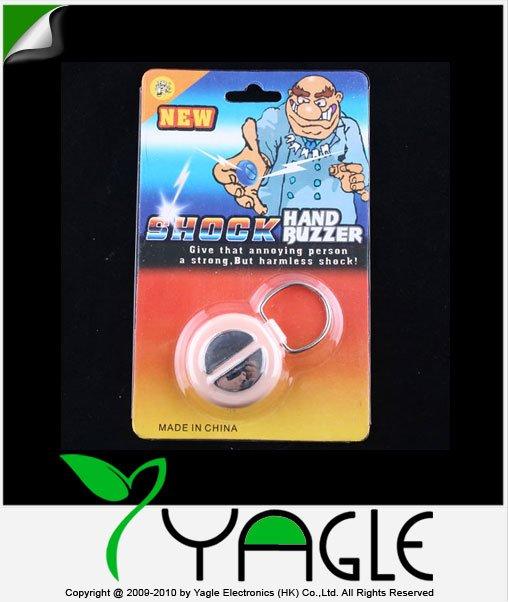 Wholesale Hot Best Electric Funny Shock Hand Buzzer, Practical Joke Gag Halloween Christmas Gift Prank Toys(China (Mainland))