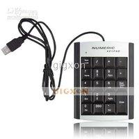 5pcs/lot Mini USB 19 keys Number Pad Numeric Keypad Keyboard