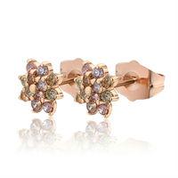 Серьги-кольца 18K Gold Plated Children Earrings, Fashion SW Elements Zircon Baby Hoop Earring