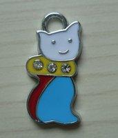 100 pcs/lot Free shipping enamel pendant,zinc alloy,wholesale