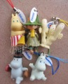 5 Sets of 25pc Cartoon Moomin Valley Snufkin Floren Hippo Figure Strap,free shipping(China (Mainland))