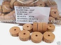 CORK RINGS FLOR GRADE 1/2 INCH NATURAL LOTS OF 100