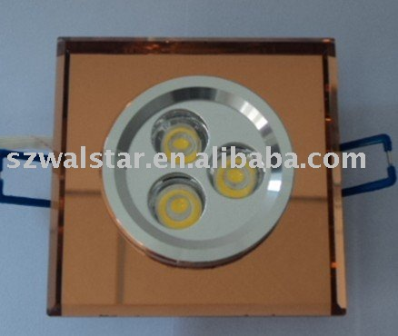 3w crystal high power LED residential lamp LED indoor ceiling light(China (Mainland))