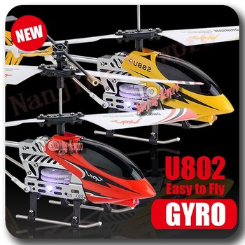 Hot sale!! 15.4cm Metal 3CH RC Helicopter three channels Gyro mini rc airplne with flashlight U802