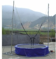 USA jumping mat*galvanized steel tube* 4 in 1 Bungee trampoline, mobile bungee trampoline