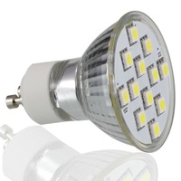 Free Shipping,1pcs/lot, GU10 6W 5500-6000K White Light 12x5050LED Light Bulb(AC110V)