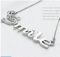 Free shipping necklace chain SMILE necklace 11g