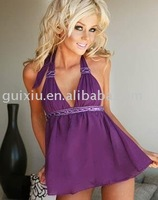 Seduction Babydoll Dress Purple