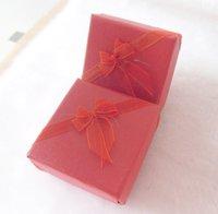 Red Box. Jewelry Box.Ring Box. Earrings Box. Cardborad box. Free Shipping