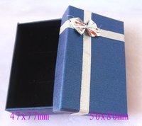 Blue Box. Jewelry Box.Ring Box. Earrings Box. Cardborad box. Free Shipping.