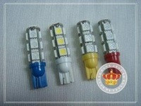 50pcs/lot Car Bulbs width lamp backup lamp door lamp T10 5050 13smd 13 SMD LED t10 led light
