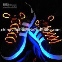 5pcs/lot Christmas gift ,hot fiber optic Led shoe laces Laser shoe laces LIGHT UP ,turn on /off