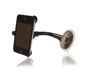 50pcs/lot 100% Brand New Black Car Mount Holder for iphone 4 4GS + DHL Free Shipping(China (Mainland))